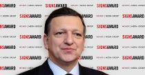 Zeichensetzer: Der ehemalige Präsident der Europäischen Kommission José Manuel Barroso wird mit dem SignsAward ausgezeichnet.
