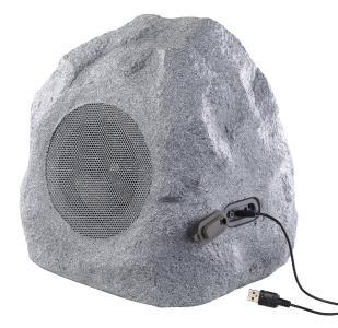 auvisio Garten- und Outdoor-Lautsprecher im Stein-Design, Bluetooth, 30W, IPX4