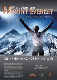 """Plakat zum Film """"Marathon am Mount Everest"""""""