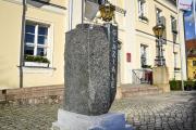 Hinweisstein - Rathaus Angermünde - Glaziale-Brandenburg