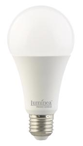 Luminea Home Control  WLAN-LED-Lampe LAV-170.rgbw, für Amazon Alexa und Google Assistant, E27, RGBW, 15 Watt