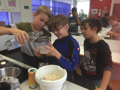 Schüler der Mittelschule Bergkirchen bei der Aktion Pflanzenpower