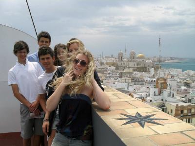 Dachterrasse in Cádiz
