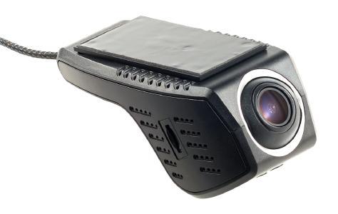 NavGear Unauffällige HD-Dashcam, G-Sensor, WLAN, App-Steuerung, Android & iOS: Dezente Montage hinter dem Rückspiegel behindert nicht die Sicht