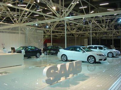 as systems realisierte Messestand für Saab in Bologna