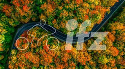 Herbst-Drohnenaufnahme