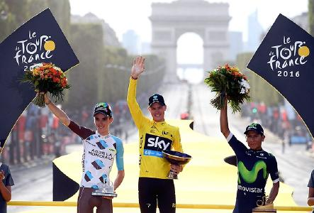 Tour de France 2016: Teams auf Continental-Rennradreifen besetzen das Podium (Quelle: Graham Watson)