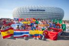 Kickoff for the eighth Allianz Junior Football Camp at FC Bayern Munich