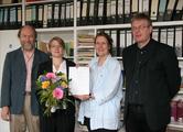 Prof. Dr. Georg Klump, Amelie Deister, Prof. Dr. Sabine Doering, Klaus Wettwer (Akademisches Prüfungsamt)