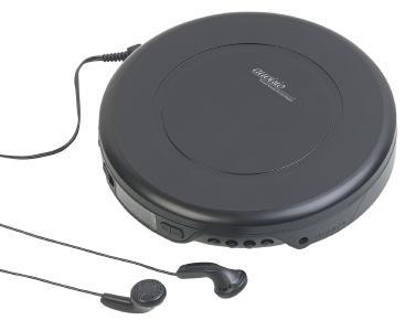 auvisio Tragbarer CD-Player mit Ohrhörern, Bluetooth und Anti-Shock-Funktion
