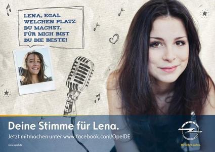 Opel unterstützt mit einer Online-Kampagne die angestrebte Titelverteidigung der Eurovision Song Contest-Gewinnerin 2010 Lena