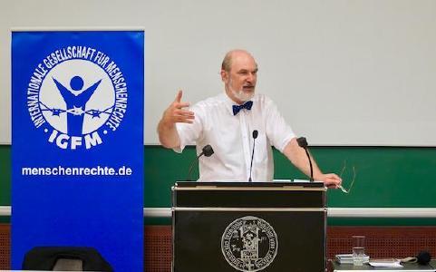 Thomas Schirrmacher während IGFM-Vorlesung an der Universität Freiburg / © Foto: BQ / Warnecke