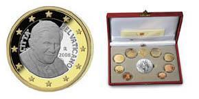 Papst Benedikt Xvi Münzen Aus Dem Vatikan In 2008 Erstmals Mit