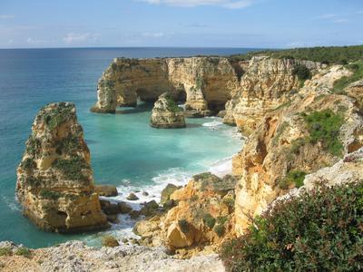 Praia da Marinha an der Algarve Portugal