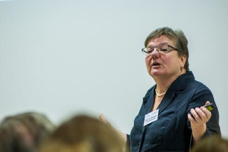 Prof. Dr. Elisabeth Leicht-Eckardt zeigte auf, wie Schulverpflegung die Integration fördern kann