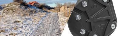 Die Swiss Galoppers mit Spikes für sicheres Reiten in der Winterlandschaft