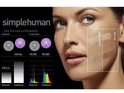 Das tru-Lux Lichtsystem von simplehuman