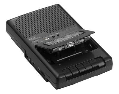 auvisio Mobiler Kassettenspieler und USB-Digitalisierer, Lautsprecher und Mikrofon