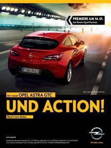 Umfangreiche Print- und Onlineanzeigen unterstützen den Marktstart des Astra GTC