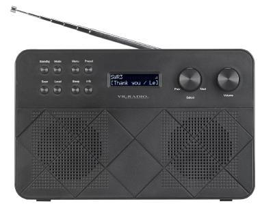 VR-Radio Mobiles Stereo-Internetradio IRS-230 mit LCD, 2 Weckzeiten und App, 12 Watt