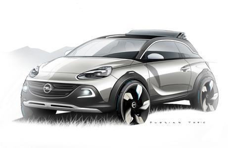 Auf dem Genfer Automobilsalon (07.-17. März 2013) präsentiert Opel die dreitürige urbane Mini-Crossover-Studie ADAM ROCKS.