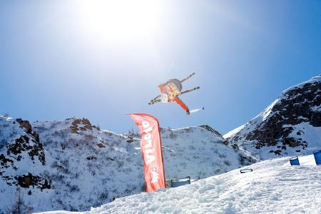 Freestyle-Skiing in Airolo