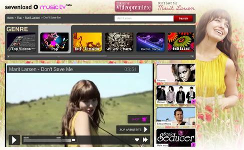 Screenshot von Marit Larsen bei sevenload Music TV
