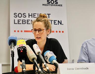 Pressekonferenz in Berlin am 23.08.19 mit SOS MEDITERRANÉE und Ärzte ohne Grenzen