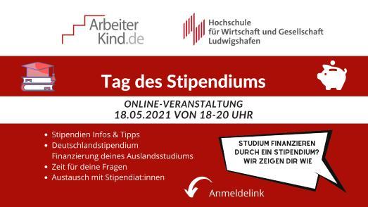 """Nicht nur für Überflieger und Einserkandidaten: Online-""""Tag des Stipendiums"""" am 18. Mai um 18.00 Uhr"""