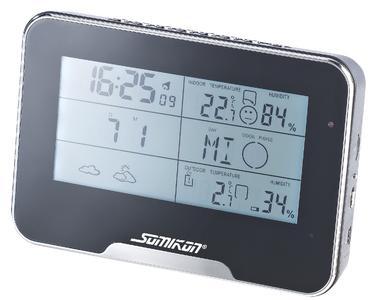 NX 4135 1 Somikon Full HD Überwachungskamera mit Funk Wetterstation