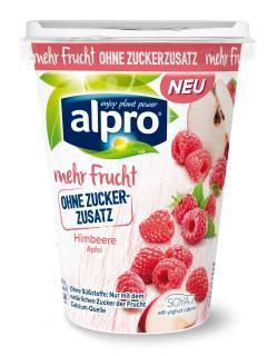 Soja-Joghurtalternative Himbeere-Apfel von Alpro