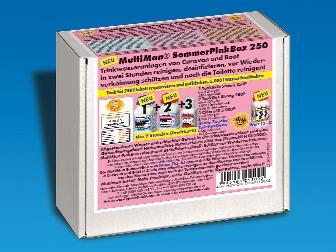 MultiMan SommerPinkBox 250 zur schnellen und gründlichen Reinigung von Trinkwassertanks in Caravan und Boot. Mit GratisProdukt zur Toilettenreinigung