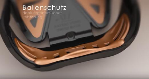Swiss Galoppers -  Ballenschutz dank ergonomischer Polsterung