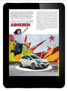"""Die iPad-Version des Opel Magazins, das  Opel iMag, ist ab 9. März verfügbar. """"Das Opel iMag bietet dem Leser einen echten Mehrwert. Wir beziehen ihn interaktiv in die Zeitschrift ein. Die Zukunft gehört mehr und  mehr den digitalen Medien und da wollen wir Trendsetter sein"""", erläutert Alain Visser, Vorstand für Vertrieb, Marketing und Service der Adam Opel AG"""