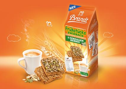Brandt Frühstückszwieback 5 Cerealien Kernig