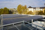 MEGA-Kollektoren fertig installiert und bereit für den Einsatz fürs das Forschungsgewäschhaus Leipzig.