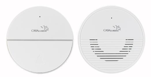 CASAcontrol Funk-Türklingel FTK-250.app mit WLAN und Gegensprech-Funktion per App, 50 Meter