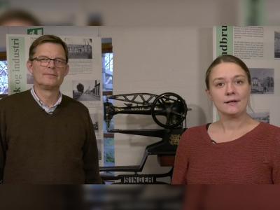 Mareike Haak, Eventkoordinationsassistenz im Oldenburger Wallmuseum, Steen Chr. Steensen, Entwicklungsberater am HistorieLab in Jelling, DK / Foto (Poul Kjær Lauridsen)