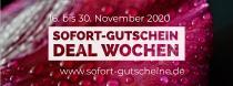 """SOFORT-Gutschein unterstützt Betriebe mit der kostenlosen Marketingkampagne  """"SOFORT-Gutschein Deal Wochen"""" vom 16.-30.11.2020 auf www.sofort-gutscheine.de."""