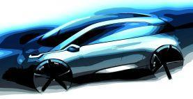 Designerskizze des MCV. Es wird 2013 unter einer Submarke von BMW auf den Markt kommen
