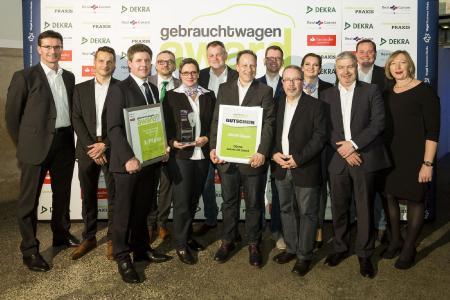 """Die Gewinner des """"Gebrauchtwagen Award 2017"""": 1. Platz für das Autohaus Cottbus (AHC), Cottbus / Vogel Business Media/S. Bausewein"""