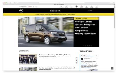 New URL for Opel Media Website