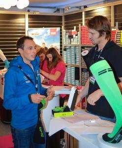 Eric Frenzel, der frisch gekürte Skisportler der Saison 2015 / 2016, vertraut auf medizinische Hilfsmittel von medi und CEP