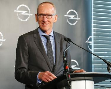 Opel CEO Dr. Karl-Thomas Neumann at the inauguration of the Global Propulsion Systems Center in Rüsselsheim