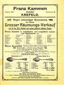 Historische Anzeige von Franz Kammen