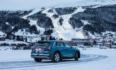 In Åre, dem Austragungsort der Ski-Weltmeisterschaften 2019, zu deren Hauptsponsoren Pirelli gehört, debütiert der neue Ice Zero 2 an einem Audi e-tron