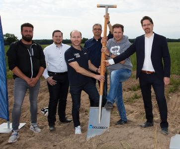 Spatenstisch 21sportsgroup Logistikzentrum Ketsch, Michael Burk und Henner Schwarz
