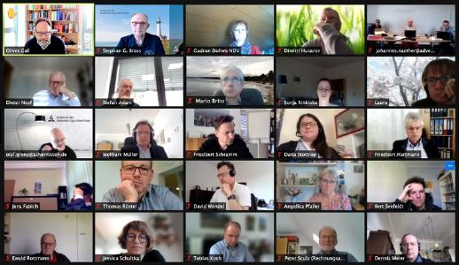 Teilnehmer der virtuellen Sitzung des NDV-Leitungsgremiums