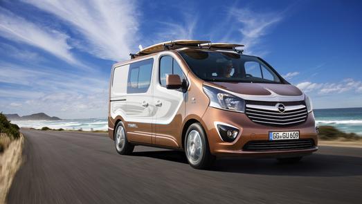 Lifestyle-Van: Der Opel Vivaro Surf Concept bietet Platz für bis zu sechs Passagiere plus großer Sportausrüstung