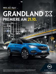 Premiere: Nach seinem Debüt auf der Frankfurter IAA fährt der neue Opel Grandland X am 21. Oktober bei den Händlern vor und steht zur Probefahrt bereit